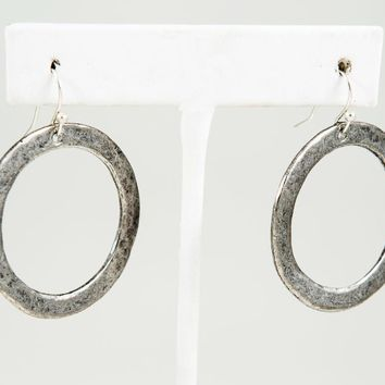Circle Earring, Small - Gold or Silver
