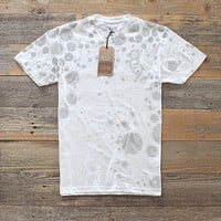 Cell Block T Shirt Overwashed Distress White