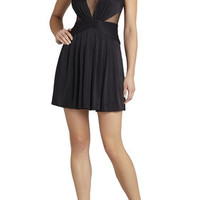 Lacee Sleeveless Ruched-Bodice Dress