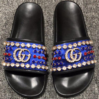 Gucci Print slippers