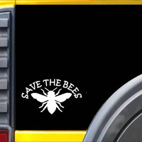 Save the Bees Honey Bee  Decal Sticker *J285*