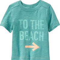 Old Navy Beach Graphic Tees For Baby