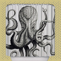 octopus shower curtain giant octopus attack