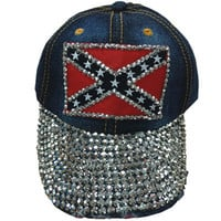 Bling Dixie Girl Rebel Flag Hat