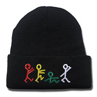 A Tribe Called Quest Band Logo Beanie Fashion Unisex Embroidery Beanies Skullies Knitted Hats Skull Caps