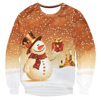 2018 New 3D Printing Men Women UGLY CHRISTMAS SWEATER Vacation Santa Elf Funny Womens Men Sweaters Tops Autumn Winter Clothing