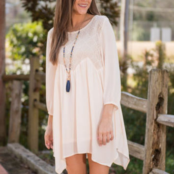 Beauty To Behold Tunic, Almond