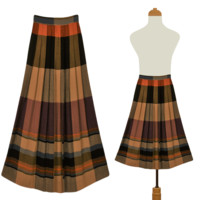 Women's Skirt- Tartan Skirt- Plaid Skirt- Vintage Skirt- Preppy Skirt- Cotton Skirt