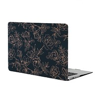 Floral Rose Gold MacBook Case
