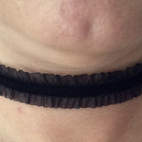 Black Suede and Ribbon Choker Adjustable Necklace Trendy jewelry women's collar chocker