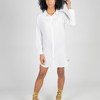 Oversized White Button Up Shirt