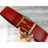 Fendi tide brand female retro personality wild letter buckle belt