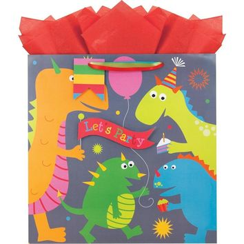 The Gift Wrap Company Dinomite Large Square Bag