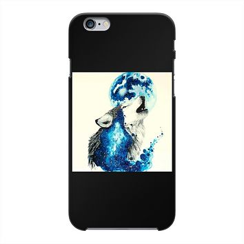 Howling Wolf Back Printed Black Hard Phone Case