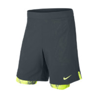 "Nike 9"" Gladiator Two-In-One Men's Tennis Shorts Size Large (Grey)"
