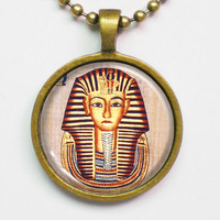 Egyptian Graph Necklace Sphinx on Papyrus Paper by FantasticDIY