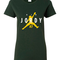 Air Jordy Great Packers Fan Green Bay Fan T-Shirt Super Bowl Bound Packers Ladies Youth & Unisex Green Bay T-Shirt