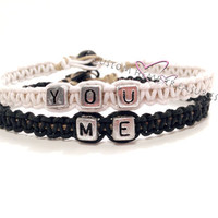 Me You Bracelets for Couples or Best Friends Set of 2