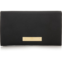 Chloé - Fold-Over textured-leather wallet