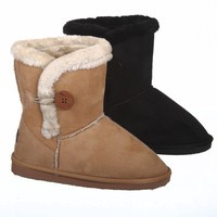 Single Button Fur Lined Ankle Snow Boots (8)