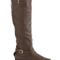 Ask Me Equestrian Boot in Taupe   Mod Retro Vintage Boots   ModCloth.com