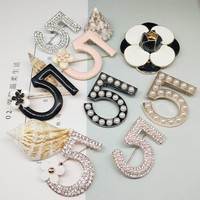 CXB00163 Mix Styles All Kinds Of Letter 5 Brooch Pin Handbag/Clothes Decoration Pin Camellia Flower  Syles Pins