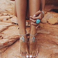Barefoot Sandals Beach Foot Jewelry Ankle Bracelet Boho Anklet Bohemian Anklets for Women FREE SHIPPING