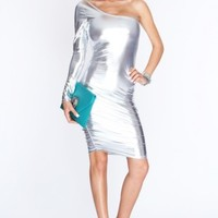 Silver Long Sleeve Sexy Party Dress