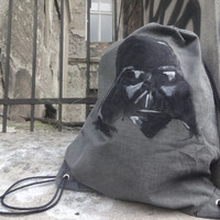Darth Vader Star Wars inspired Drawstring backpack