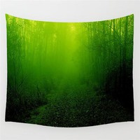 Mystical Forest Adventure Wall Tapestry