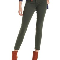 Olive Skin Tight Legging Skinny Jeans by Charlotte Russe