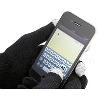 Touch Screen Texting Gloves (Large) - Works on All Touch Screen Phones, Tablets and GPS