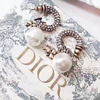 DIOR New fashion diamond pearl long earring women