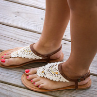 NOT RATED Crochet Me Down Gypsy Sandals