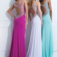Tony Bowls Paris 114707 Crystal Jersey Gown