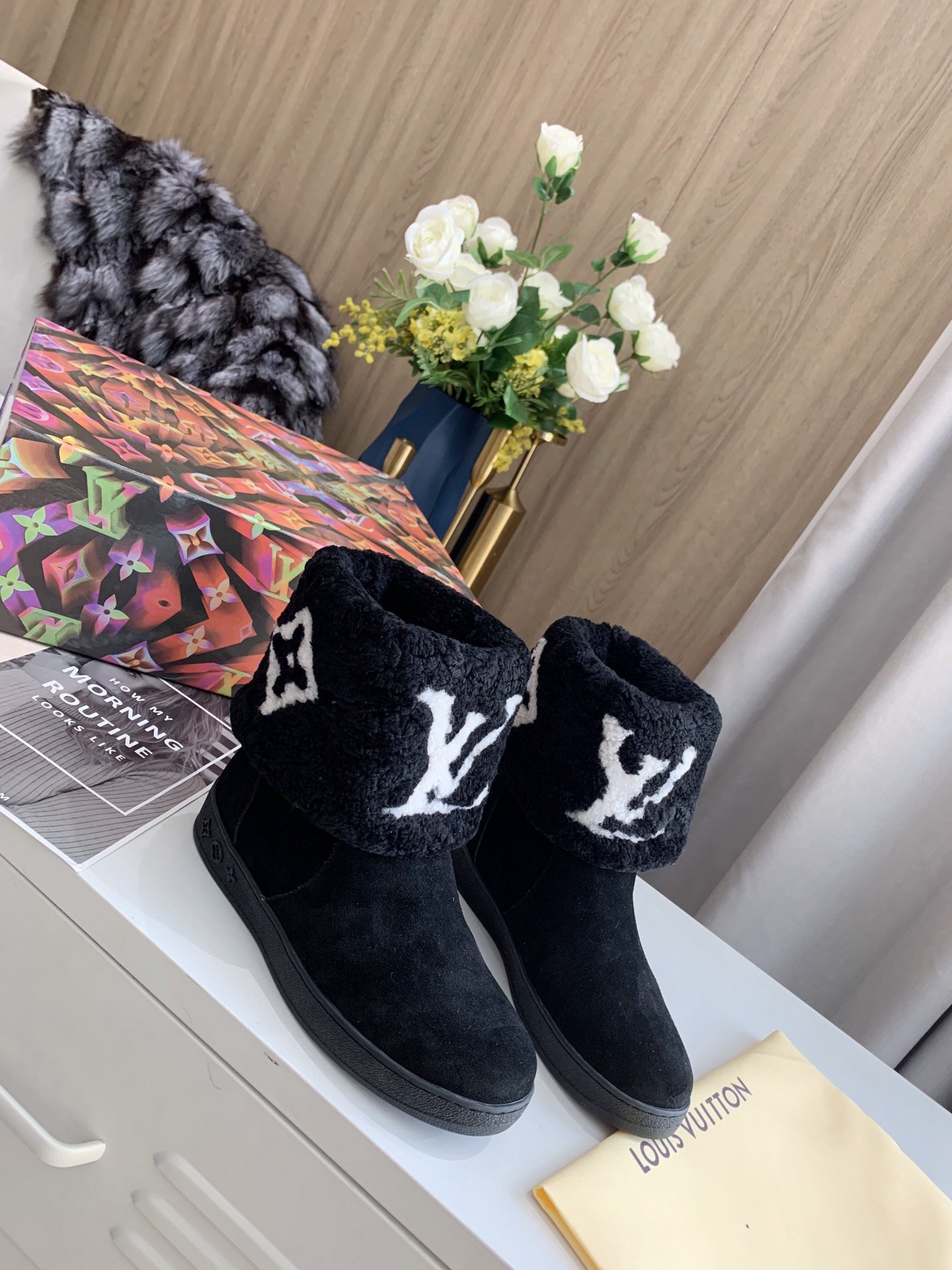Image of Louis Vuitton LV Snow boots Leather boots Fashionable Leisure Boots Shoes 08622
