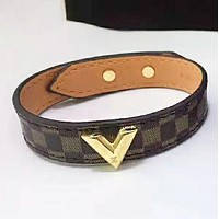 Louis Vuitton LV Fashion New Monogram Leather Women Men Bracelet Accessories