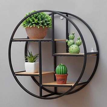 Spacious Round Wall Shelf For Wall Decor