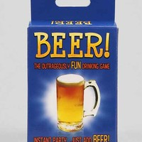 Beer Card Party Game - Blue One