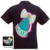 Girlie Girl Originals Cheer Bowtie Megaphone Bright T Shirt