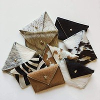 Card Wallet (Assorted Hair on Hide Variety)