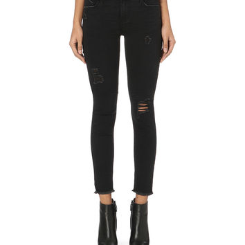 Prince skinny mid-rise jeans