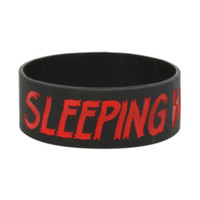 Sleeping With Sirens Red Logo Rubber Bracelet