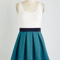 Mid-length Sleeveless Twofer Pleats If You Please Dress by ModCloth
