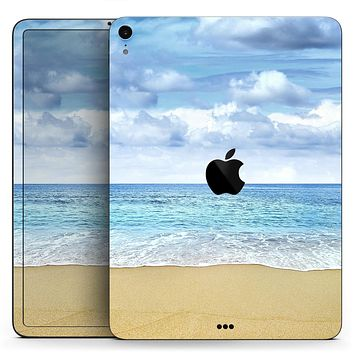 """Calm Blue Sky and Sea Shore - Full Body Skin Decal for the Apple iPad Pro 12.9"""", 11"""", 10.5"""", 9.7"""", Air or Mini (All Models Available)"""