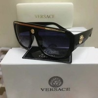 New Versace Men's Black Sunglasses