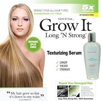 Long N Strong® 2-in1 ANTI-FRIZZ and HAIR GROWTH SERUM! Leave-in Texturizing Serum repairs hair while it helps it grow hair longer and stronger and relaxing frizzy hair