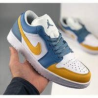 Nike Air Jordan 1 Low two-layer leather classic retro cultural casual sports basketball shoes