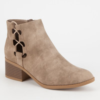 CITY CLASSIFIED Side Bungee Womens Booties   Boots + Booties