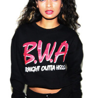 HLZBLZ B.W.A. Crop Top Pullover